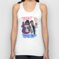 treat yo self Tank Tops featuring Treat Yo Self by enerjax