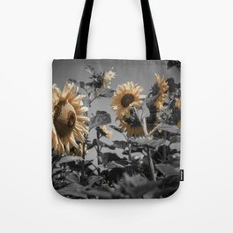 Sunflowers On My Mind Tote Bag