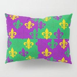 Mardi Gras Fleur-de-Lis Pattern Pillow Sham