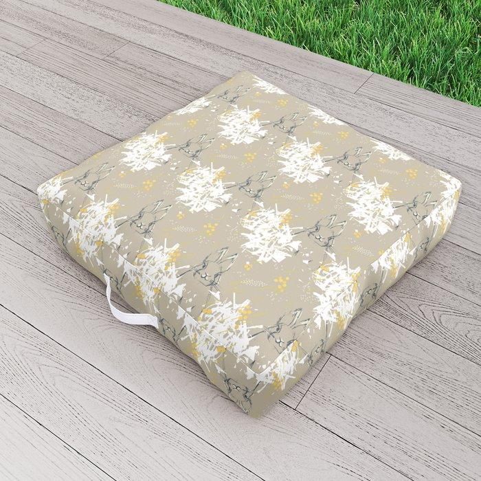 Bunny Portrait M+M Latte by Friztin Outdoor Floor Cushion