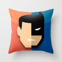 heroes Throw Pillows featuring Heroes by Evan Gaskin