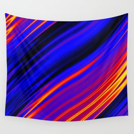 Polyamory Pride Shining Satin Ripples Design Wall Tapestry