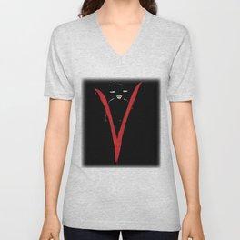 V for Vendett (e6) Unisex V-Neck