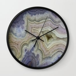 Royal Aztec Lace Agate Wall Clock