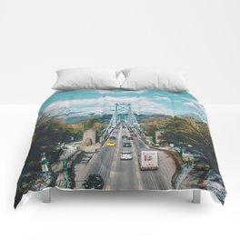 Lions Gate Bridge Comforters