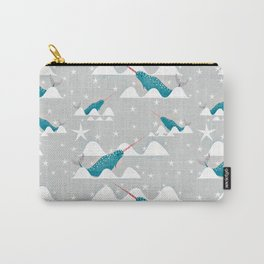 Sea unicorn - Narwhal grey Carry-All Pouch