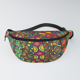 African Style No13, Tribal dance Fanny Pack