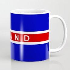 iceland country flag island name text Mug
