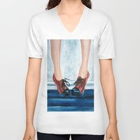 heels V-neck T-shirts featuring Heels by MardyArts