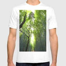 Fresh view White Mens Fitted Tee MEDIUM