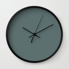 Colors of Autumn Dark Pastel Blue Solid Color Wall Clock
