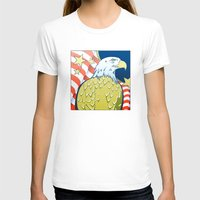 patriotic T-shirts featuring Patriotic Eagle by whiterabbitart