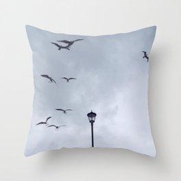 Seagulls at Cromer Throw Pillow