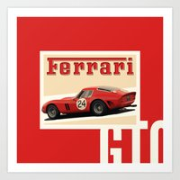 Ferrari Vintage Badge Art Print
