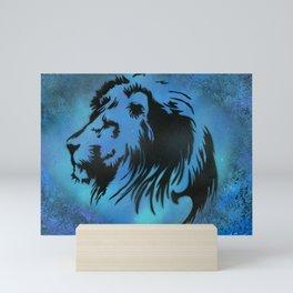 Blue Lion Mini Art Print