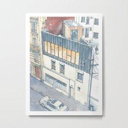 Saganaki House Metal Print