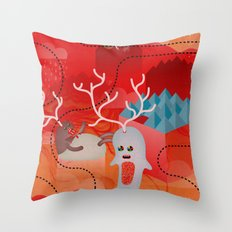 Bi_Corni Throw Pillow