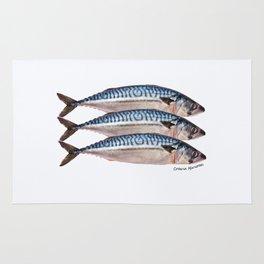 Fresh Cornish Mackerel Rug