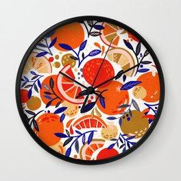 Fresh Citrus Mesh – White Wall Clock