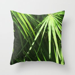Lost in Green Throw Pillow