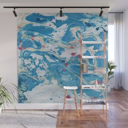Marble art : Blue wind Wall Mural