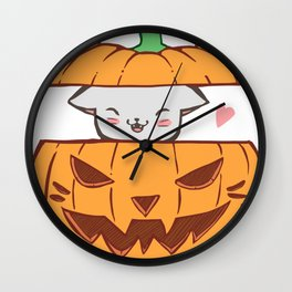 Pumpkin Kitty Wall Clock