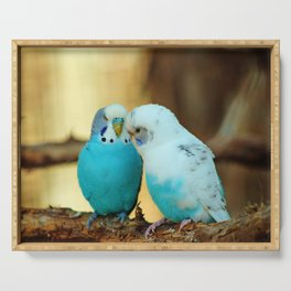 Lovely Pair Of Budgies Serving Tray
