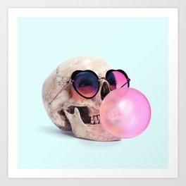 BubblegumSkull Art Print
