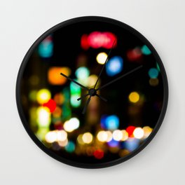 Shibuya Bokeh Lights Wall Clock