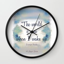 The World is Mine Wall Clock