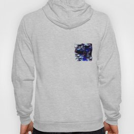 traveling through space and time abstract oil paint Hoody
