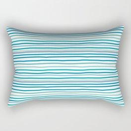sea stripes Rectangular Pillow