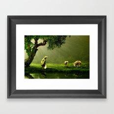 Shepherd Woman Framed Art Print