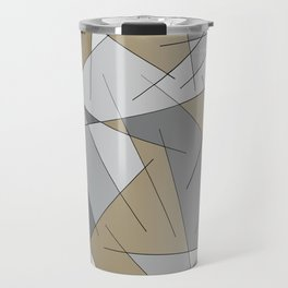 ABSTRACT LINES #1 (Grays & Beiges) Travel Mug