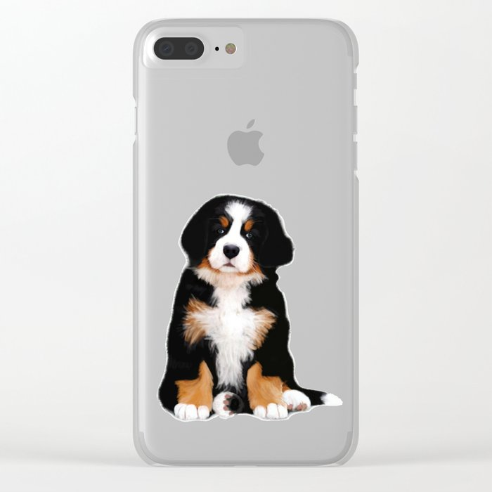Bernese Mountain Dog Puppy Clear Iphone Case By Scubaprincess