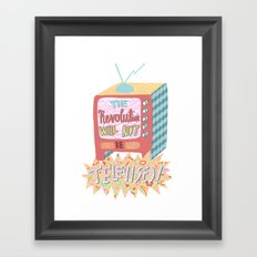 Gil Scott-Heron - The Revolution Will Not Be Televised! Framed Art Print