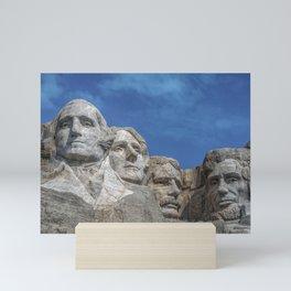 Mount Rushmore, Keystone, South Dakota, United States. Mini Art Print