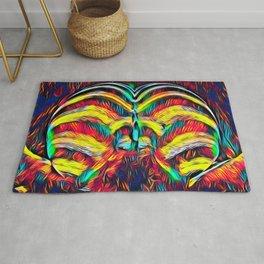 1349s-MAK Abstract Pop Color Erotica Explicit Psychedelic Yoni Buns Rug