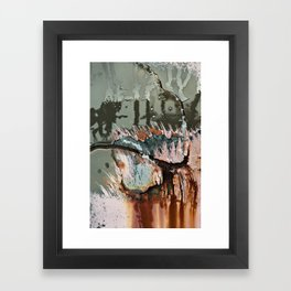 Corrosion Colors I Framed Art Print