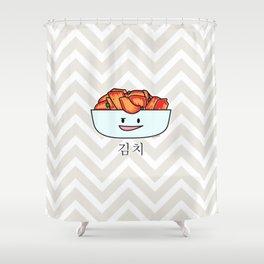 Happy Kimchi Kimchee Bowl Cabbage pickled spicy Korean Shower Curtain