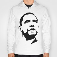 obama Hoodies featuring barak obama by b & c