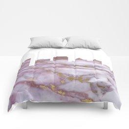 Fort Lauderdale Skyline Comforters