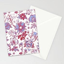 Red, Blue & White Garden Chintz Stationery Cards