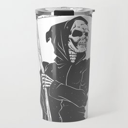 Grim reaper black and white Travel Mug