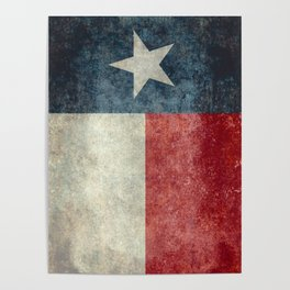 Texas state flag, vintage banner Poster
