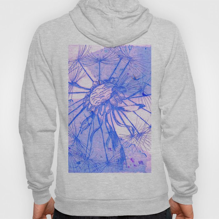 Blue Collage Dandelion Hoody
