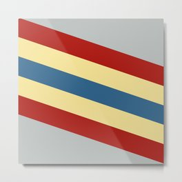 Kali - Colorful Classic Abstract Minimal Retro 70s Style Stripes Design Metal Print