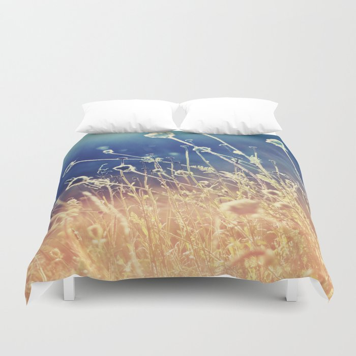 Blue and day  Duvet Cover