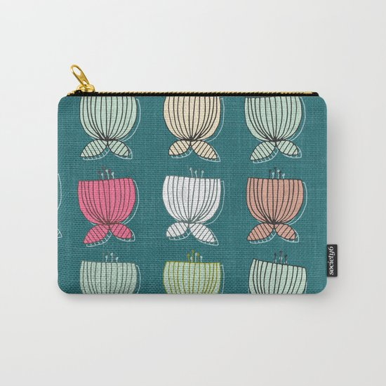 flower cups teal Carry-All Pouch
