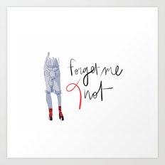 Forget me (K)not Art Print